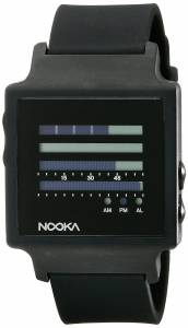 [ヌーカ]NOOKA 腕時計 Digital Display Quartz Black Watch ZENHKBK ユニセックス