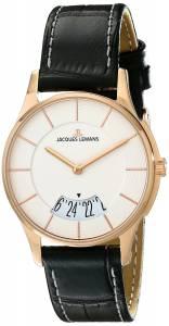[ジャックルマン]Jacques Lemans  London Analog Display Quartz Black Watch 1-1747M