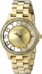 [マーク ジェイコブス]Marc by Marc Jacobs Skeleton GoldTone Stainless Steel Bracelet MBM3338