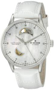 [エドックス]Edox  Les Vauberts Analog Display Swiss Automatic White Watch 85019 3A NADN