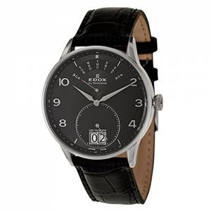[エドックス]Edox  Les Vauberts Day Retrograde Quartz Watch 340053NNBN 34005-3N-NBN メンズ