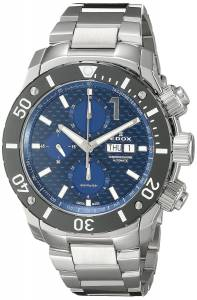 [エドックス]Edox  Chronoffshore Analog Display Swiss Automatic Silver Watch 01114 3M BUIN