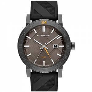 [バーバリー]BURBERRY 腕時計 orologio The New City GMT Black Check Rubber 42mm Watch BU9341