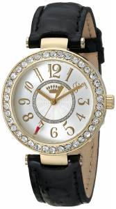 [ジューシークチュール]Juicy Couture Luxe Couture Analog Display Quartz Black Watch 1901193