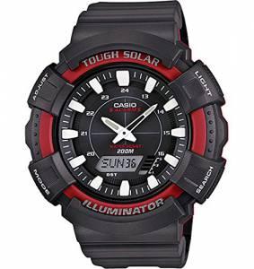 [カシオ]Casio 腕時計 Solar Watch with Black Resin Band AD-S800WH-4AVCF メンズ [逆輸入]