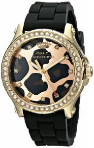 [ジューシークチュール]Juicy Couture  Pedigree Analog Display Quartz Black Watch 1901191