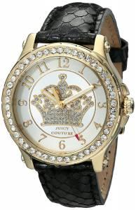 [ジューシークチュール]Juicy Couture  Pedigree Analog Display Quartz Black Watch 1901203