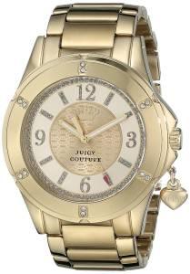 [ジューシークチュール]Juicy Couture Rich Analog Display Quartz Gold Watch 1901200 1901200