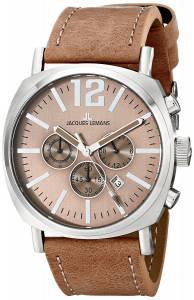 [ジャックルマン]Jacques Lemans  Lugano Analog Display Quartz Brown Watch 1-1645F メンズ