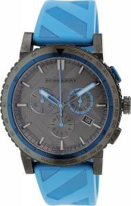 [バーバリー]BURBERRY The City Sport Chronograph Black Check Stamped Dial Blue Rubber BU9812