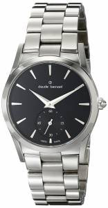 [クロードベルナール]claude bernard Classic Analog Display Swiss Quartz Silver 23092 3 NIN2