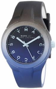 [マーク ジェイコブス]Marc by Marc Jacobs  Black and Blue Watch with Silicone Band MBM5541