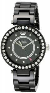 [ジューシークチュール]Juicy Couture Luxe Couture Analog Display Quartz Black Watch 1901260