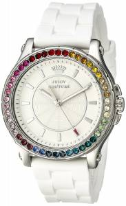 [ジューシークチュール]Juicy Couture  Pedigree Analog Display Quartz White Watch 1901276