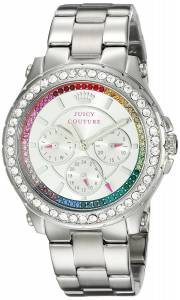 [ジューシークチュール]Juicy Couture  Pedigree Analog Display Quartz Silver Watch 1901275