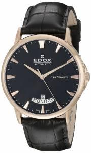 [エドックス]Edox  Les Bemonts Analog Display Swiss Automatic Black Watch 83015 37R NIR