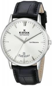 [エドックス]Edox  Grand Ocean Analog Display Swiss Automatic Black Watch 83015 3 BIN メンズ