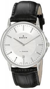 [エドックス]Edox  Les Bemonts Analog Display Swiss Quartz Brown Watch 56001 3 AIN メンズ