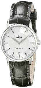 [エドックス]Edox  Les Bemonts Analog Display Swiss Quartz Black Watch 57001 3 AIN