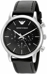 [エンポリオアルマーニ]Emporio Armani Classic Stainless Steel Watch with Black AR1828