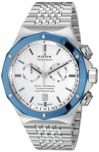 [エドックス]Edox  Delfin Analog Display Swiss Quartz Silver Watch 10108 3BU AIN メンズ