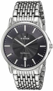 [エドックス]Edox  Les Bemonts Analog Display Swiss Quartz Silver Watch 56001 3M GIN メンズ