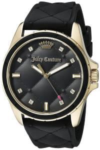 [ジューシークチュール]Juicy Couture  Malibu Analog Display Quartz Black Watch 1901314