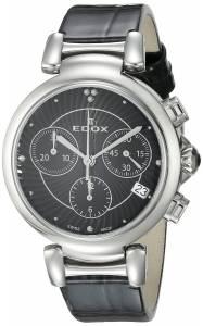 [エドックス]Edox  LaPassion Analog Display Swiss Quartz Black Watch 10220 3C NIN