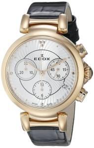 [エドックス]Edox  LaPassion Analog Display Swiss Quartz Black Watch 10220 37RC AIR