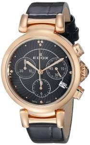 [エドックス]Edox  LaPassion Analog Display Swiss Quartz Black Watch 10220 357RC NIR