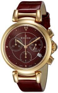 [エドックス]Edox  LaPassion Analog Display Swiss Quartz Red Watch 10220 37RC ROUIR