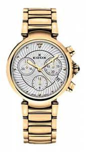 [エドックス]Edox  LaPassion Analog Display Swiss Quartz Rose Gold Watch 10220 37RM AIR
