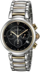 [エドックス]Edox  LaPassion Analog Display Swiss Quartz Two Tone Watch 10220 357RM NIR