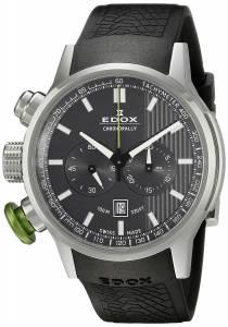 [エドックス]Edox  Chronorally Analog Display Swiss Quartz Black Watch 10302 3V GIN メンズ