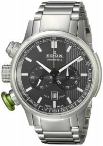 [エドックス]Edox  Chronorally Analog Display Swiss Quartz Silver Watch 10302 3MV GIN メンズ