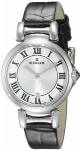 [エドックス]Edox  LaPassion Analog Display Swiss Quartz Black Watch 57002 3C AR