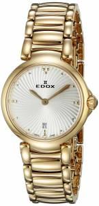 [エドックス]Edox  LaPassion Analog Display Swiss Quartz Rose Gold Watch 57002 37RM AIR
