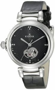 [エドックス]Edox  LaPassion Analog Display Swiss Automatic Black Watch 85025 3C NIN