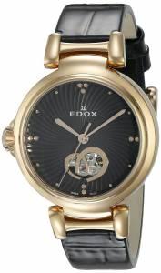 [エドックス]Edox  LaPassion Analog Display Swiss Automatic Black Watch 85025 37RC NIR