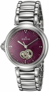 [エドックス]Edox  LaPassion Analog Display Swiss Automatic SilverTone Watch 85025 3M ROIN