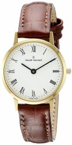[クロードベルナール]claude bernard Gents Slim Line Analog Display Swiss Quartz 20201 37J BR