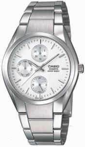 [カシオ]Casio 腕時計 White Silvertone Analog Bracelet Watch MTP1191A-7A メンズ [逆輸入]
