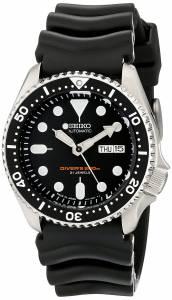 [パルサー]Pulsar 腕時計 Seiko Analog JapaneseAutomatic Black Rubber Diver's Watch SKX007J1