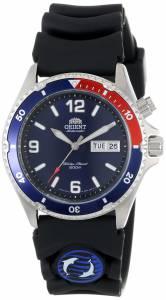 [オリエント]Orient  Blue and Red Bezel Automatic Rubber Strap Dive Watch CEM65003D メンズ