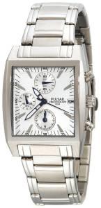 [パルサー]Pulsar 腕時計 Chronograph SilverTone Stainless Steel Watch PF8133 メンズ