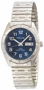 [パルサー]Pulsar 腕時計 ExpansionBand Blue Dial Stainless Steel Watch PXN149 メンズ
