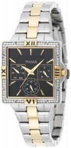 [パルサー]Pulsar 腕時計 Dress Sport Square Black Dial TwoTone Watch PYR046 レディース
