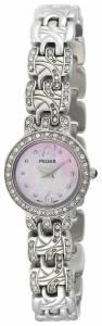 [パルサー]Pulsar  Swarovski Crystal Jeweled Stainless Steel Pink Dial Watch PEGE31