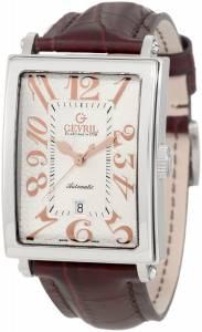 [ジェビル]Gevril  Avenue of America Stainless Steel Watch with BrownLeather Strap 5005A