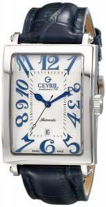 [ジェビル]Gevril Avenue of America Stainless Steel Automatic Watch with Blue Leather Strap 5007A